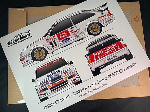 Rob Gravett Drivers' Champion 1990 Poster