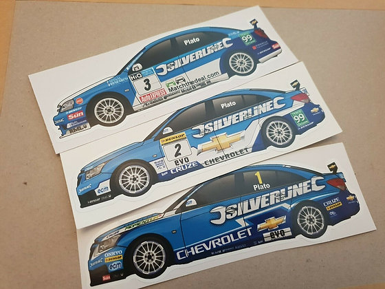 Jason Plato Chevrolet BTCC Sticker Set