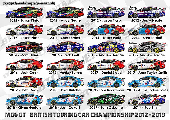 MG6 GT 2012 - 2019 A3 Poster
