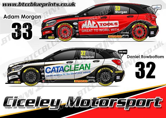 2019 Ciceley Motorsport Team Poster