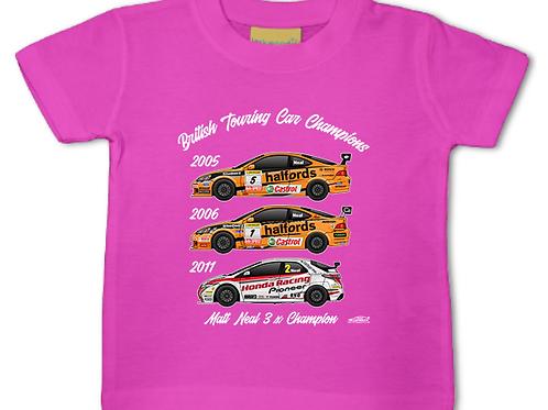 Matt Neal 3 x Champion | Baby/Toddler | Short Sleeve T-shirt