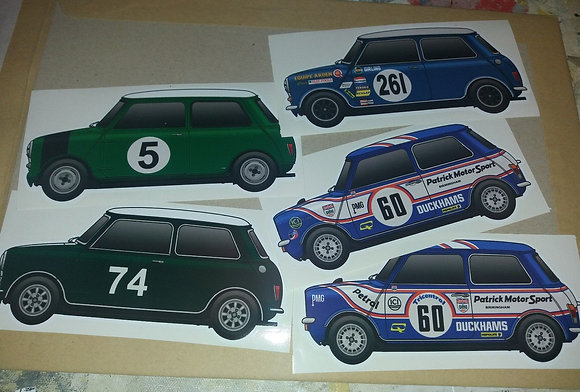 Mini BTCC Sticker Set