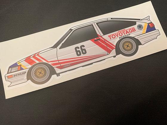 Chris Hodgetts 1986 Champion Sticker