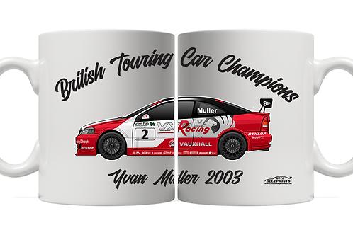 Yvan Muller 2003 Champion 11oz Mug