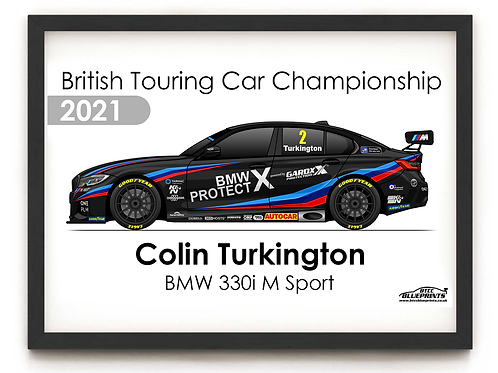Colin Turkington 2021 | Team BMW | A3 Poster