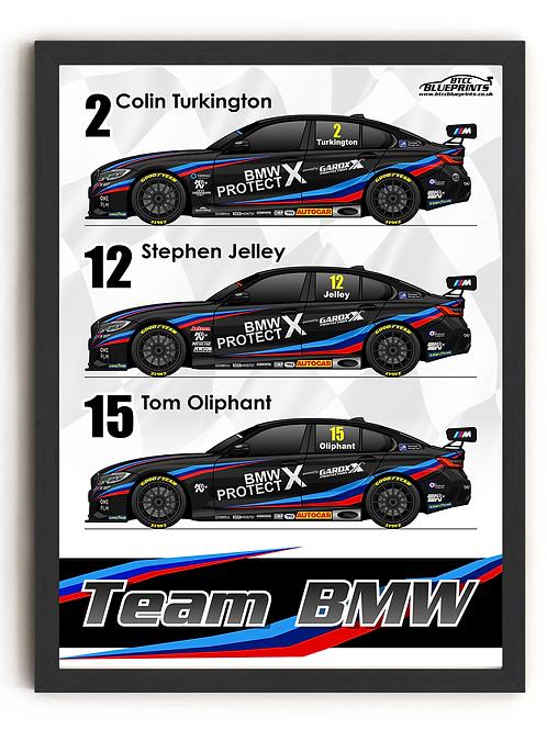 Team BMW 2021 A3 - A0 Poster