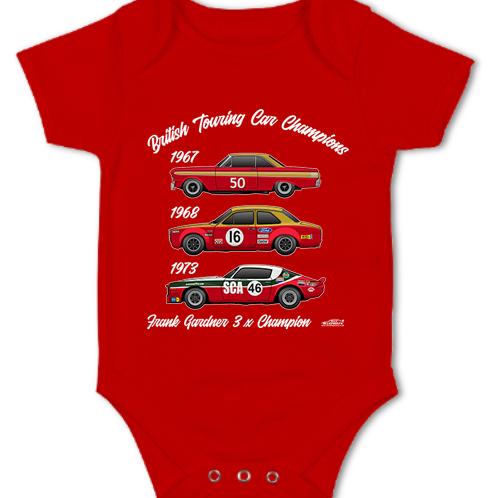 Frank Gardner 3 x Champion   Baby Grow