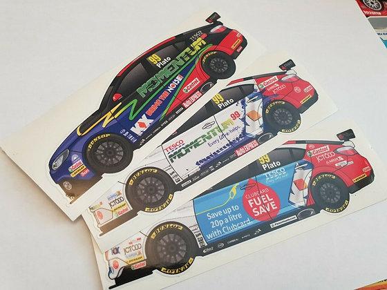 Jason Plato MG BTCC Sticker Set