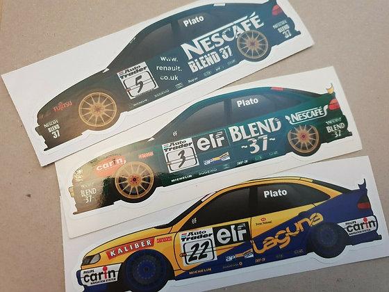 Jason Plato Williams Renault Laguna BTCC Sticker Set
