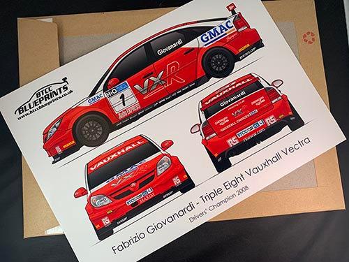 Fabrizio Giovanardi Drivers' Champion 2008 Poster