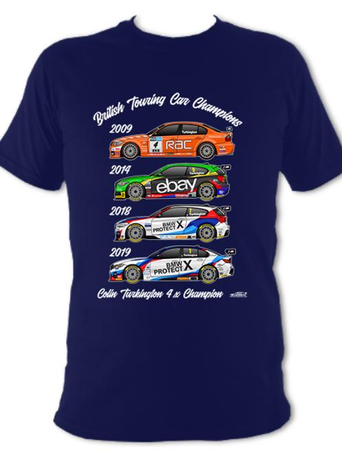 Colin Turkington 4 x Champion | Adult Unisex | Short Sleeve T-Shirt