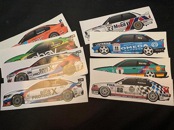 BTCC BMW Champions Sticker Set