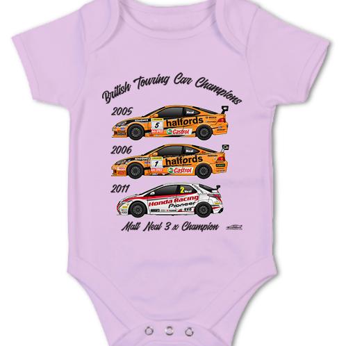 Matt Neal 3 x Champion | Baby Grow