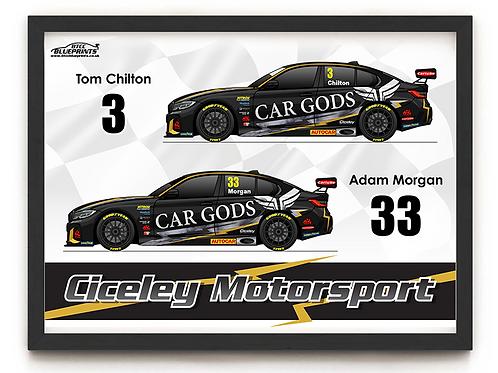Ciceley Motorsport 2021 A3 - A0 Poster