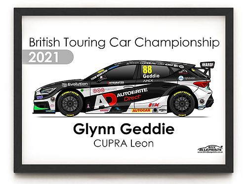 Glynn Geddie 2021 | Team HARD | A3 Poster