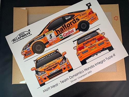 Matt Neal Drivers' Champion 2005 Poster