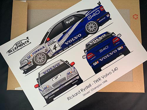 Rickard Rydell Drivers' Champion 1998 Poster
