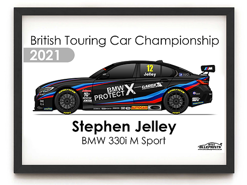 Stephen Jelley 2021 | Team BMW | A3 Poster