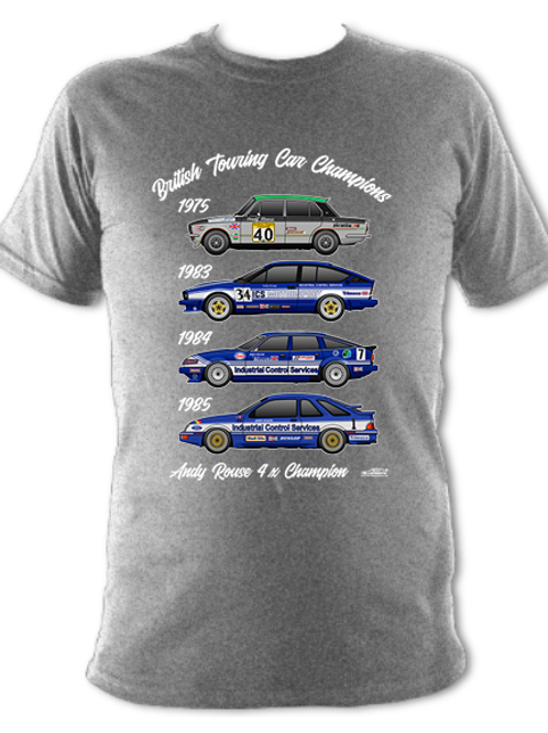 Andy Rouse 4 x Champion | Adult Unisex | Short Sleeve T-Shirt