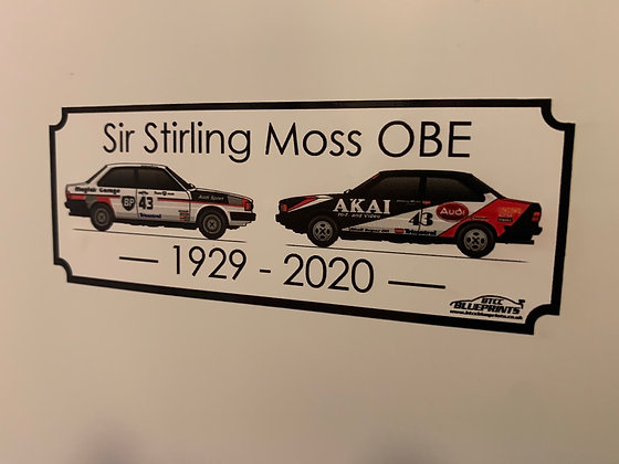 Sir Stirling Moss Sticker (Donation to Hope For Tomorrow)