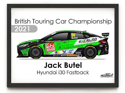Jack Butel 2021 | Motorbase Performance | A4 Poster