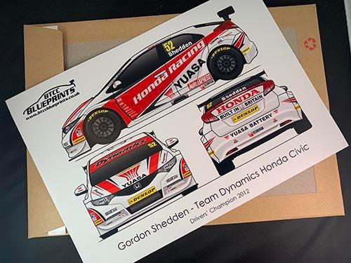Gordon Shedden Drivers' Champion 2012 Poster
