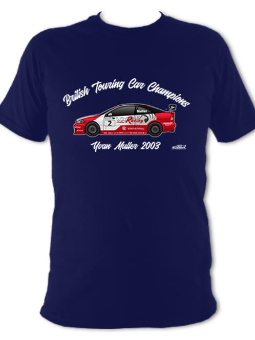 Yvan Muller 2003 Champion | Adult Unisex | Short Sleeve T-Shirt
