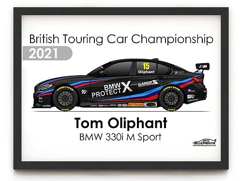Tom Oliphant 2021 | Team BMW | A3 Poster