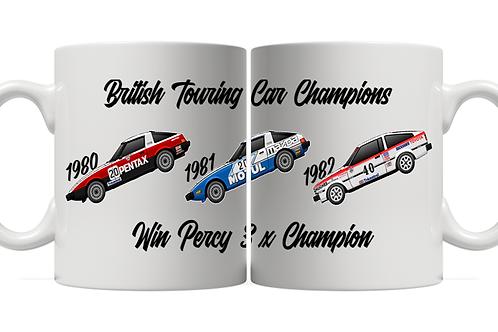 Win Percy 3 x Champion 11oz Mug