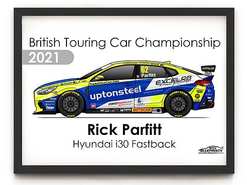 Rick Parfitt 2021 | Excelr8 Motorsport | A3 Poster