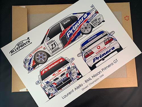 Laurent Aiello Drivers' Champion 1999 Poster