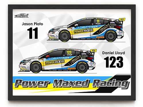 Power Maxed Racing 2021 A4 Poster