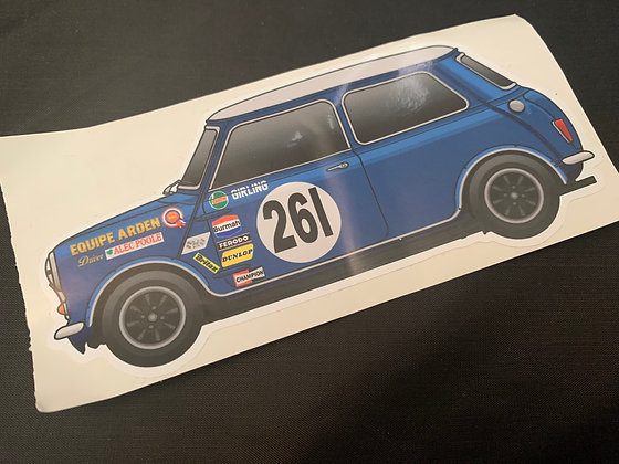 Alec Poole 1969 Champion Sticker