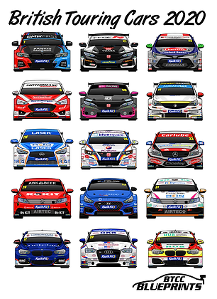 British Touring Cars 2020 Poster