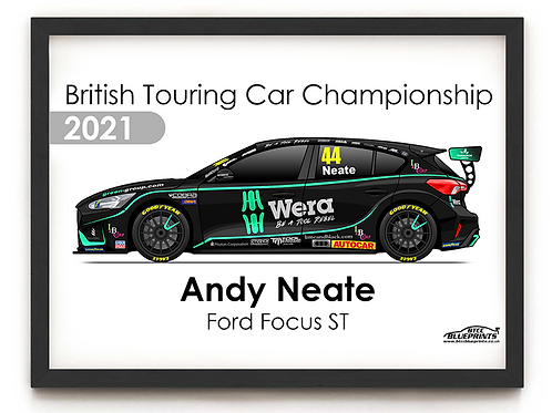 Andy Neate 2021 | Motorbase Performance | A3 Poster