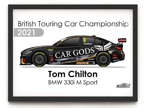 Tom Chilton 2021 | Ciceley Motorsport | A4 Poster