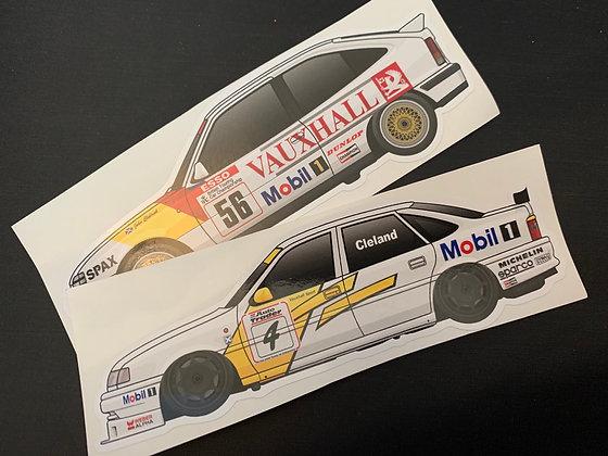 John Cleland Champion Sticker Set