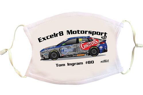 Tom Ingram 2021   Excelr8 Motorsport   Face Mask