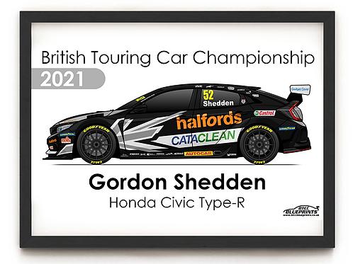 Gordon Shedden 2021 | Team Dynamics | A4 Poster