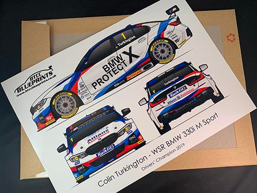 Colin Turkington Drivers' Champion 2019 Poster