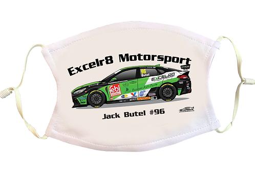 Jack Butel 2021   Excelr8 Motorsport   Face Mask