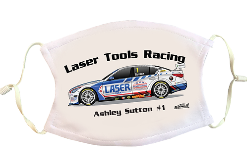 Ashley Sutton 2021   Laser Tools Racing   Face Mask