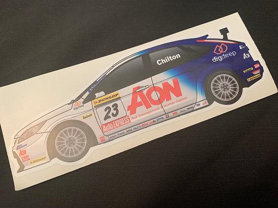 Tom Chilton 2010 Sticker