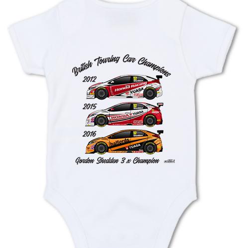 Gordon Shedden 3 x Champion | Baby Grow