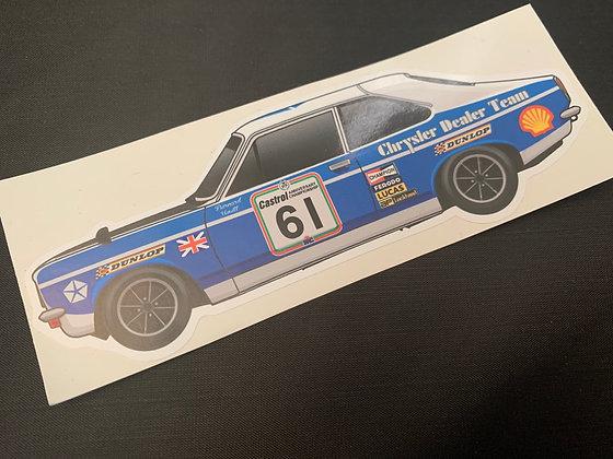 Bernard Unett 1974 Champion Sticker