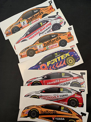 BTCC Honda Champions Sticker Set
