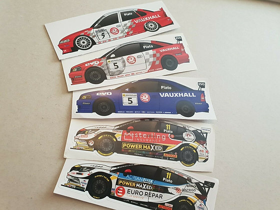 Jason Plato Vauxhall BTCC Sticker Set