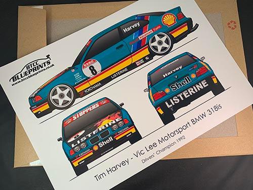 Tim Harvey Drivers' Champion 1992 Poster