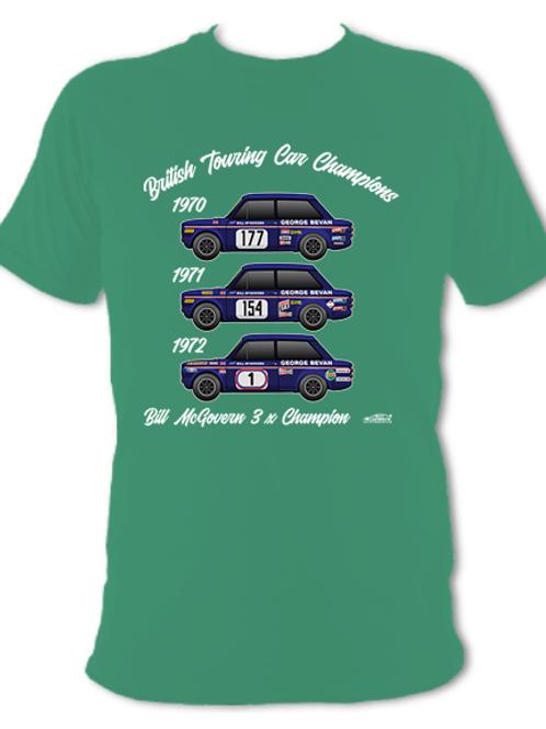 Bill McGovern 3 x Champion | Adult Unisex | Short Sleeve T-Shirt