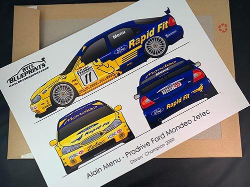 Alain Menu Drivers' Champion 2000 Poster